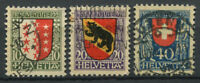 Switzerland 1921 Mi. 172-174 Used 100% Pro Juventute, Coat Of Arms