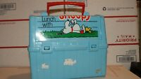 Vintage Peanuts Have Lunch with Snoopy  Lunch Box Thermos 1968