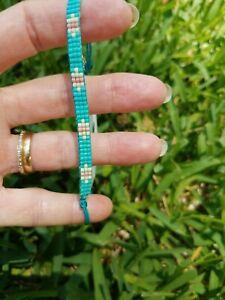 💘NEW Pura Vida Flat Bead bracelet, turquoise.
