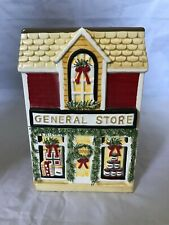 """Yankee Candle Ceramic General Store Jar Candle Holder Christmas Holiday Decor 7"""""""