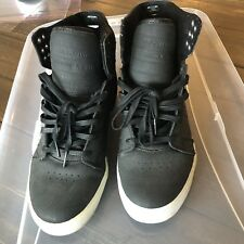 Supra   Mens Black Canvas High Top Lace Up Sneakers Shoes Size 8 (C)