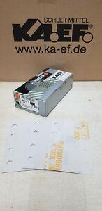 50 x White line profi Schleifpapier 80x133 mm, Klett,Schleifstreifen,P400,8 Loch
