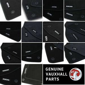 Genuine OE Vauxhall Velour Black Tailored Front/Rear Floor Car Mats LUXURY GM