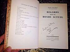 Paul Valéry, 3 Volumes, 1930's, Autographed By Bogdan Radica