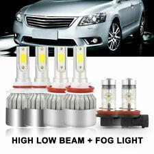 Combo 9005 H11 High Low Beam Led Headlight Bulbs Kit Fog Light 6000K White Cree