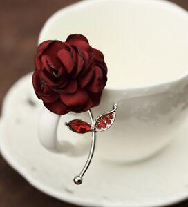 Red Rose Flower Lapel Pin Enamel Pin Men Women Wedding Favor Suit Pin Brooch Pin