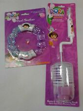 BABY Dora the Explorer (Lot of 2) Bottle/Nipple Brush and Teether Brand New NIP