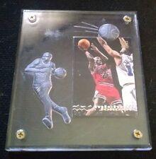 Michael Jordan Topps Stadium in Lucite engraved Case