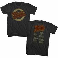 ZZ Top US Tour 1990 Men's T Shirt Vintage Logo Rock Band Album Concert Merch