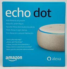 Amazon Echo Dot 3. Gen., Sprachsteuerung, Smarthome, Sandstein Stoff - Neu & OVP