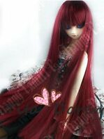 Bjd Doll Wig Dal Pullip AOD DZ AE SD DOD LUTS Dollfie wine red Toy/ Hair 1/3 8-9