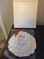 Fitz And Floyd Vintage Santa Face Christmas Salad Plate