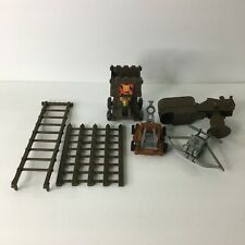 Pirates/Knights Accessory Piece Toy Lot, Fence Catapult Etc