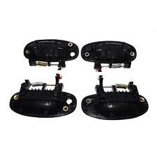 Outer Door Handles Set 4pcs Front Rear Left Right Black For Chevrolet Aveo5 Aveo