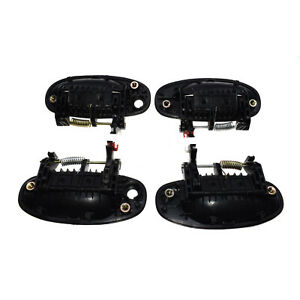 Outer Door Handles Set 4pcs Front Rear Left Right Black For Chevrolet Aveo5 Aveo