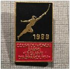 RARE INTERNATIONAL TOURNAMENT FENCING small-Sword skewer 1989 France PIN BADGE