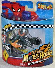 Spectacular Spider Man Super Motor Heroes Venom on Motorcycle 2008 Hasbro 78957