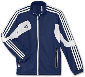 $60 Adidas Condivo 12 Training Jacket Navy Blue White Soccer Youth Size L NWT