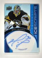 2018-19 UD Trilogy Ice Scripts Auto #IS-MM Matt Murray Pittsburgh Penguins
