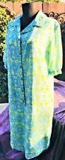 Vintage 60's Hippie R Us House Dress Spring Art Print Lovely Spirit Lougner Gown