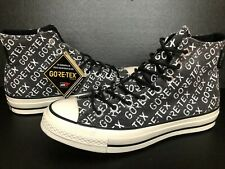 Converse Chuck 70 Hi High Top Gore-Tex All Over Logo Men's Sz 8.5 Black 162347c