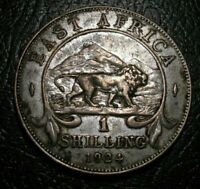 OLD Silver Coins 1924 East Africa Choice 1 Shilling George VI Beauty