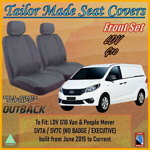 Tailor Made Grey Canvas Seat Covers for LDV G10 (All Models): 06/2015 to Current