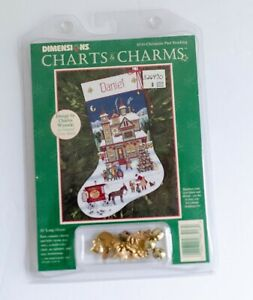 Dimensions Counted Cross Stocking CHARTS CHARMS Kit CHRISTMAS PAST Wysocki 8516