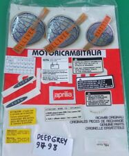 APRILIA GULLIVER 50 SET ADESIVI CARENA STICKER FAIRING DECAL DEEP GREY GRIGIO