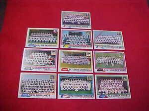 Lotto Di (10) Diversi Team 1981 Topps Checklists Contrassegno