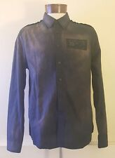 Guess Galaxy Printed Long Sleeve Slim Fit Shirt Size Large