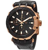 Authentic Tissot T-Race Chronograph Automatic Black Men's Watch T1154273705101
