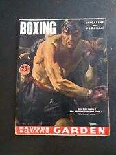 May 13th 1949 Madison Square Garden Boxing Program with Score Card