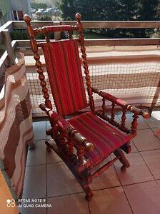 Antique, Victorian armchair, rocking chair 1880, 1890 - American