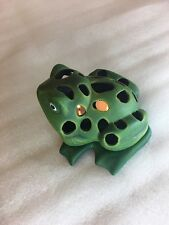 Very nice pierce green frog tea light candle holder