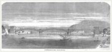 Koblenz.Ansicht d.neuen Rheinbrücke.Holzstich von 1864