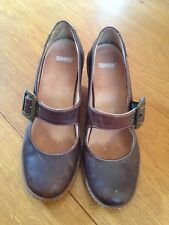 Womens Brown Leather Camper Casual Mary Jane Shoes, size 40 UK7