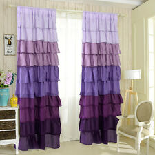 "1 PC Ruffle 54""X84"" Sheer Curtain Panels Drapes Valances Rod Pocket Polyester"