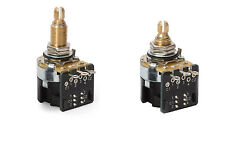 (2) CTS 500K DPDT Push-Pull Potentiometers (long or short shaft) FREE SHIPPING!