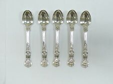 5 BENJAMIN SMITH 1844 LONDON GREAT BRITAIN SOLID STERLING SILVER SPOONS