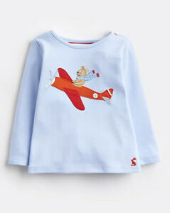 Joules Jack Blue Flying Bear Jersey Applique Top Age 3-6 Months BNWT