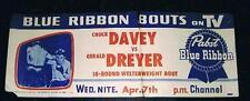 RARE 1954 Chuck Davey vs Gerald Dreyer boxing poster boxer South Africa
