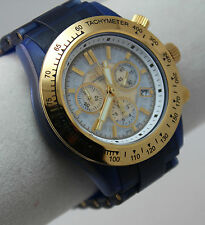 Invicta Men's 3090 Swiss Made Anatomic Blue Thermopolymer Chronograph Watch