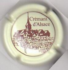 capsule mousseux CREMANT D'ALSACE, T au dessus du C, crème et marron