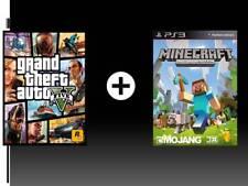 GTA 5 + minecraft Ps3 Digital Game(please read description)