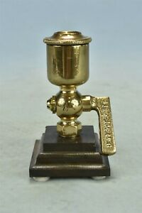 Antique LUNKENHEIMER BRASS OIL CUP with LEVER HANDLE NO 2  STEAMPUNK #02258