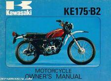 1977 Kawasaki KE175B2 Motorcycle Owners Manual - 800-426-4214