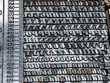 Ultra Bodoni Italic 10 Pt Letterpress Type Vintage Metal Printing Lb