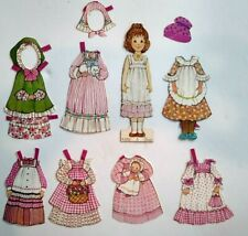 Vintage Katie Ginghams Paper Doll Young Girl with 7 Outfits Clothes