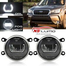 For Subaru/Mistubishi/Nissan/Citroen/Benz 90MM LED Fog Daytime Running DRL Light